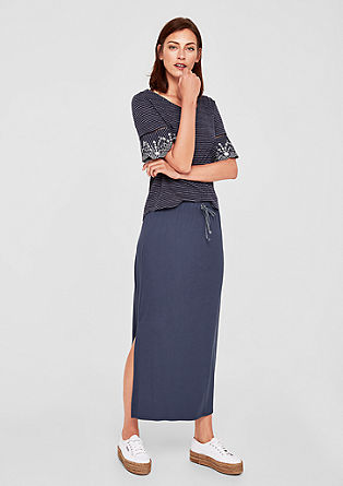 Maxi skirt with kick pleats from s.Oliver