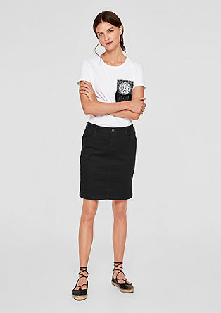 Slim-fitting denim skirt from s.Oliver