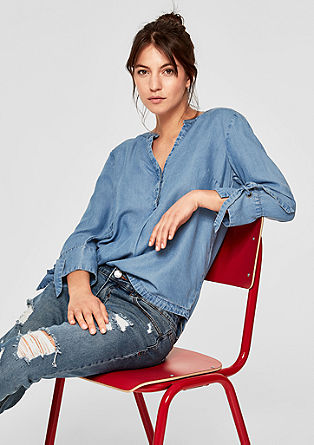 Zomerse denim blouse