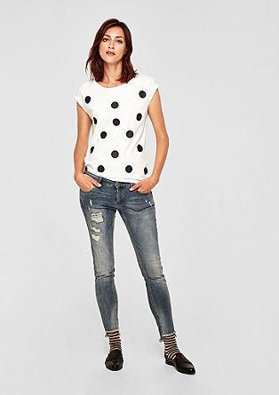Jerseyshirt mit Glitzer-Dots