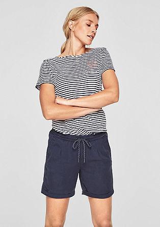 Twill-Shorts mit Durchzugkordel