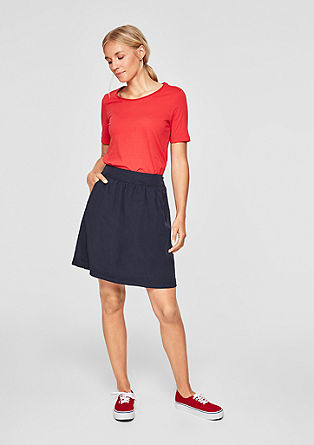 Plain coloured lyocell skirt from s.Oliver