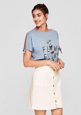Džínová sukně s knoflíkovou lištou