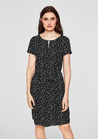Strukturiertes Print-Kleid