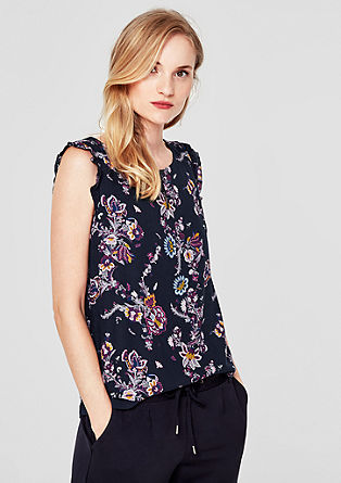 Blouse top with layering from s.Oliver