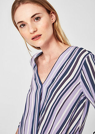 Wrap blouse with stripes from s.Oliver