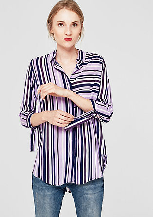 Lange blouse in strepenlook