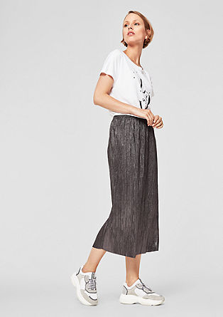 Metallic-look midi skirt from s.Oliver
