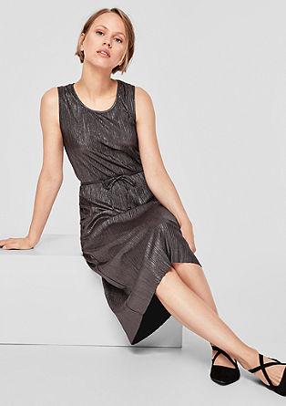 Midi-jurk met een metallic look