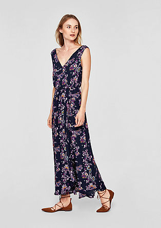 Maxi dress with a flounce from s.Oliver