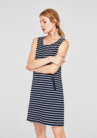 Striped jersey dress from s.Oliver