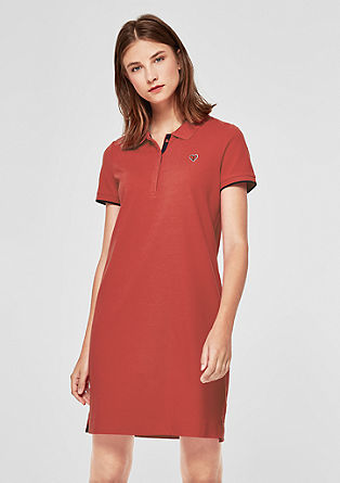 Cotton piqué polo dress from s.Oliver