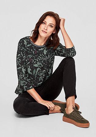 Sportief blouseachtig shirt met motief