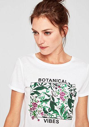 T-shirt en jersey à motif artistique de s.Oliver