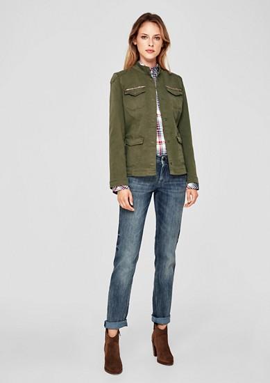 Jeansjacke aus Coloured-Twill