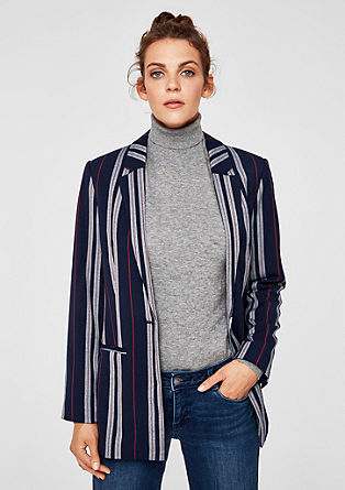 Lightweight twill blazer with stripes from s.Oliver