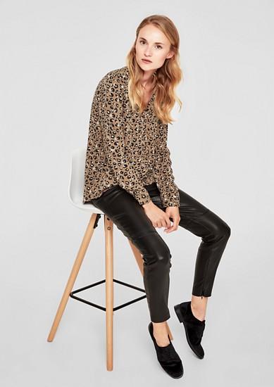 Tuniekblouse met luipaardprint