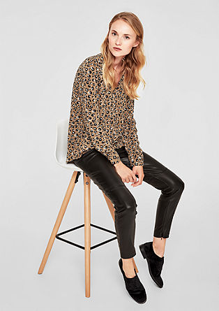 Tunic blouse with a leopard print from s.Oliver