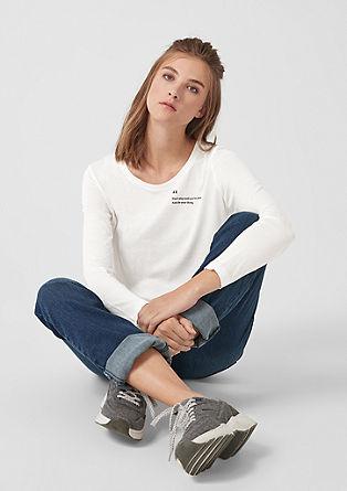 Tričko s dlouhým rukávem s natištěným textem