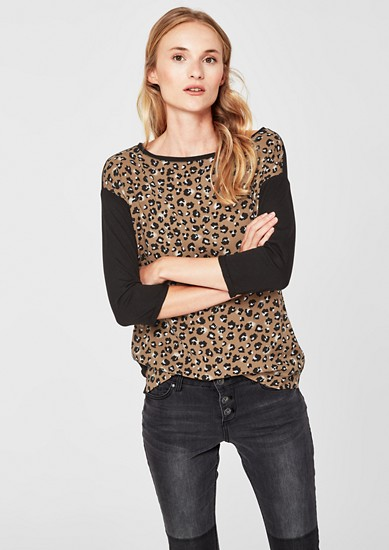 3/4-sleeve top from s.Oliver