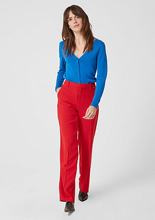 Shape Straight: crêpe trousers from s.Oliver