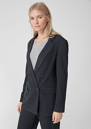 Long pinstripe blazer from s.Oliver