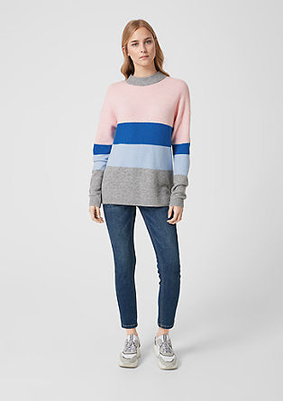 Pulli im Colour Blocking-Design