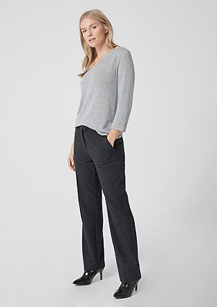 Smart Straight: pinstripe trousers from s.Oliver