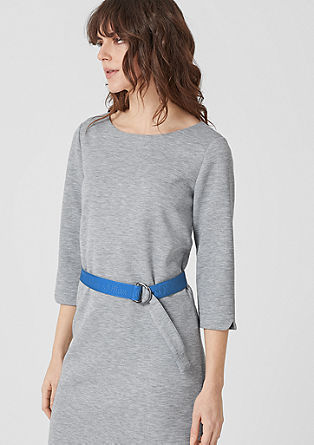 Sweatshirt dress with logo tapes from s.Oliver