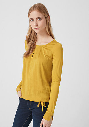 Mixed fabric long sleeve top from s.Oliver