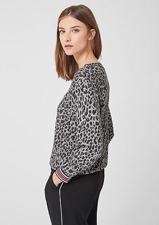 O-Shape-Shirt mit Leo-Muster