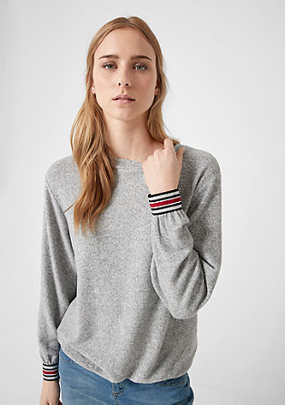 Fleece long sleeve top with cuffs from s.Oliver
