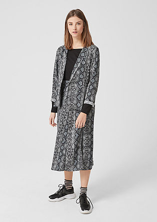 Flowing crêpe blazer from s.Oliver