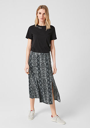 Flowing crêpe midi skirt from s.Oliver