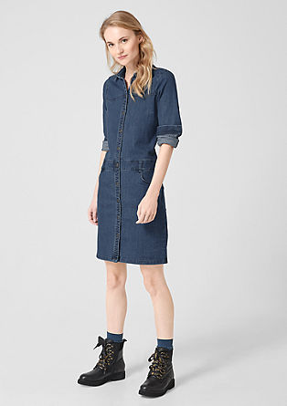 Stretchy denim dress from s.Oliver
