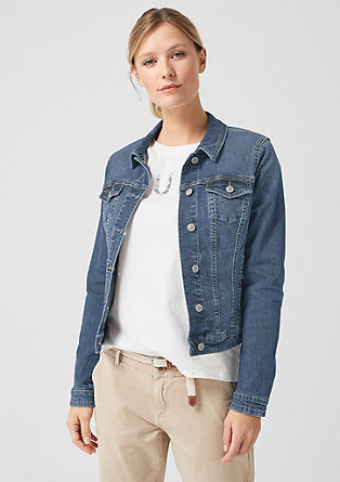 Denim jacket with stretch for comfort from s.Oliver