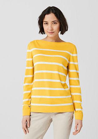 Pruhovaný pulovr zjemné pleteniny