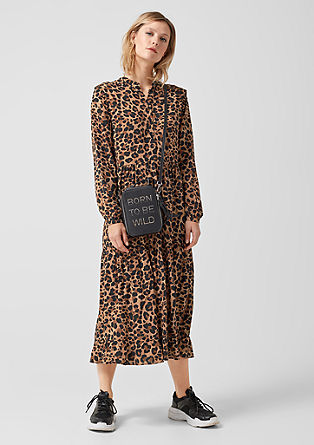 Shirt dress with a leopard print pattern from s.Oliver