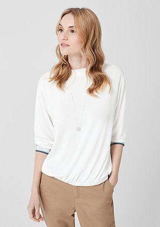 Jersey shirt met glinsterend detail