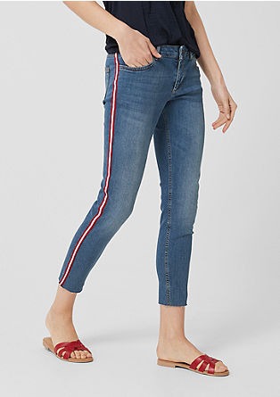 Shape Ankle: jeans with contrast stripes from s.Oliver