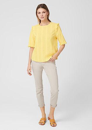 Bluza z luknjičasto vezenino