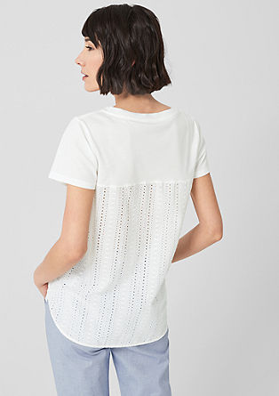 T-shirt with a lace insert from s.Oliver