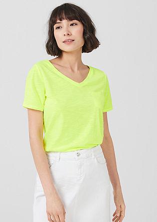 Slub Yarn-Shirt in Neon