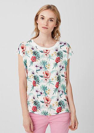 Blouseachtig shirt met print op de voorkant