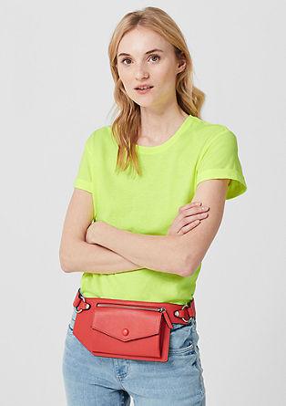 Meliertes Jerseyshirt im Neon-Look