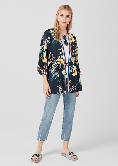 Leichter Kimono mit floralem Print