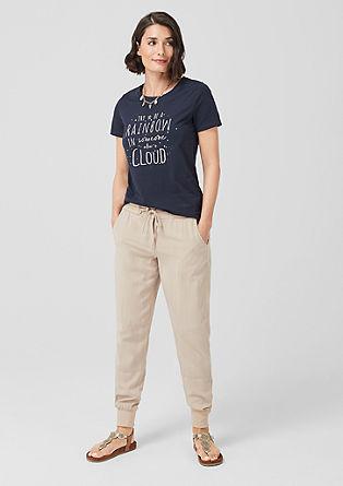 Smart Chino: lehké froté kalhoty