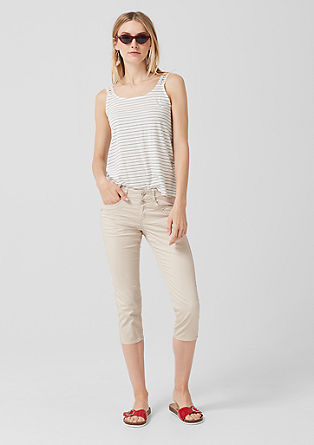 Shape Capri: stretch twill trousers from s.Oliver