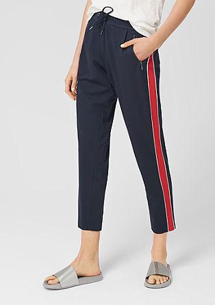 Pantalon 7/8 en molleton à rayures de s.Oliver