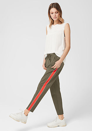 7/8 tracksuit bottoms with stripes from s.Oliver